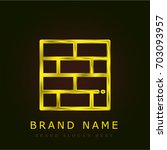 brickwall golden metallic logo