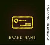 business card golden metallic...