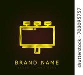 billboard golden metallic logo