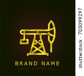 pumpjack golden metallic logo