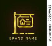 for sale golden metallic logo