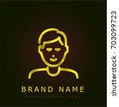 son golden metallic logo