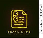 exam golden metallic logo