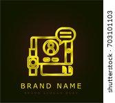 graphic design golden metallic...