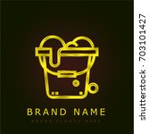 bucket golden metallic logo