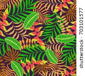 tropical background with palm... | Shutterstock .eps vector #703101577