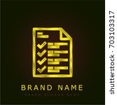 planning golden metallic logo