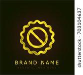 sticker golden metallic logo
