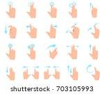 multitouch screen hand gestures ... | Shutterstock .eps vector #703105993