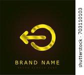 logout golden metallic logo