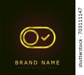 switch golden metallic logo