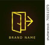 exit golden metallic logo