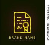 diploma golden metallic logo