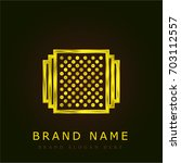 albums golden metallic logo