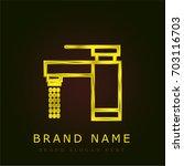 tap golden metallic logo