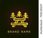 picnic golden metallic logo