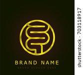 intestines golden metallic logo