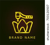 molar golden metallic logo