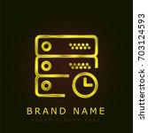 server golden metallic logo