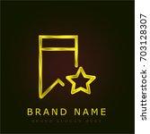 bookmark golden metallic logo
