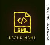 xml golden metallic logo