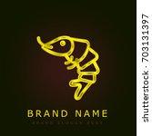 shrimp golden metallic logo | Shutterstock .eps vector #703131397