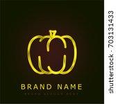 pumpkin golden metallic logo