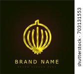 onion golden metallic logo