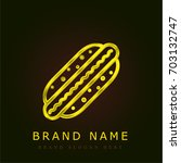 hot dog golden metallic logo