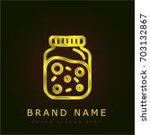 jelly golden metallic logo