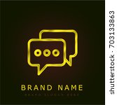 chat golden metallic logo