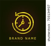 rewind time golden metallic logo
