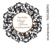 romantic invitation. wedding ... | Shutterstock .eps vector #703138093