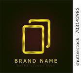 copy golden metallic logo
