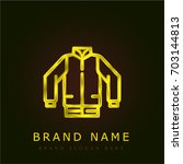 jacket golden metallic logo