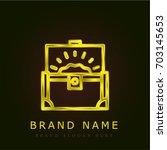 treasure golden metallic logo