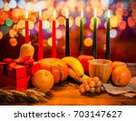 kwanzaa holiday concept with...   Shutterstock . vector #703147627