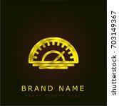 speedometer golden metallic logo