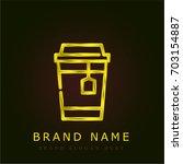 tea golden metallic logo
