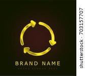 reuse golden metallic logo