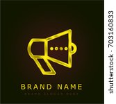 promotion golden metallic logo