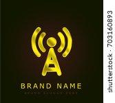 difussion golden metallic logo