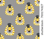 seamless childish pattern with... | Shutterstock .eps vector #703174327