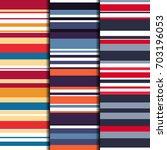 set of 3 seamless patterns... | Shutterstock .eps vector #703196053