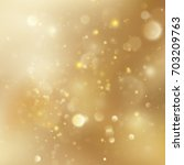 new year and xmas gold dust.... | Shutterstock .eps vector #703209763