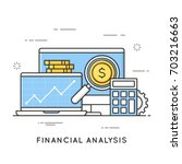 financial analysis  project... | Shutterstock .eps vector #703216663