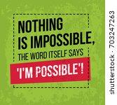 motivational quote. inspiration.... | Shutterstock .eps vector #703247263