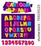 cartoon alphabet in 3d style... | Shutterstock .eps vector #703255123