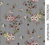 seamless floral pattern in... | Shutterstock .eps vector #703258243