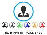 clerk vector rounded icon....   Shutterstock .eps vector #703276483